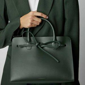Mansur Gavriel Moss Green Mini Sun Tote Bag